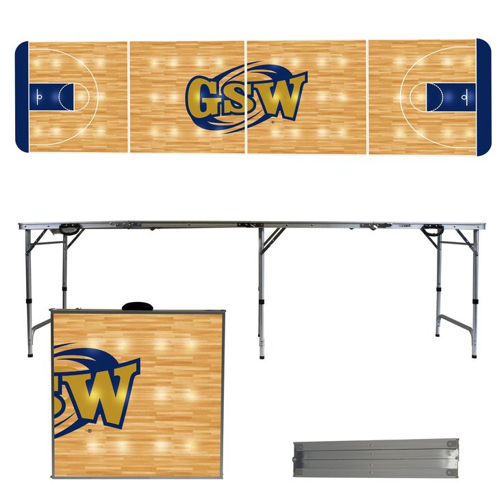 Georgia Southwestern State Hurricanes 8 Foot Portable Tailgate and Pong Table