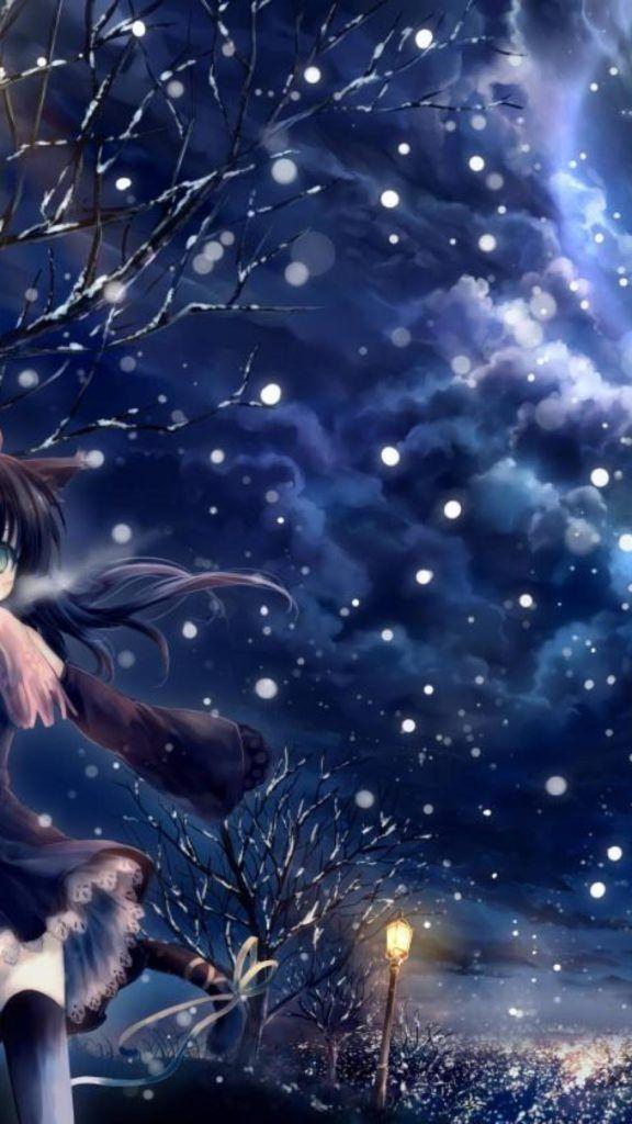 Anime Wallpaper Anime Wallpaper Winter Nature Winter Anime Wallpaper Iphone Iphone Wallpaper Winter Anime Scenery Wallpaper
