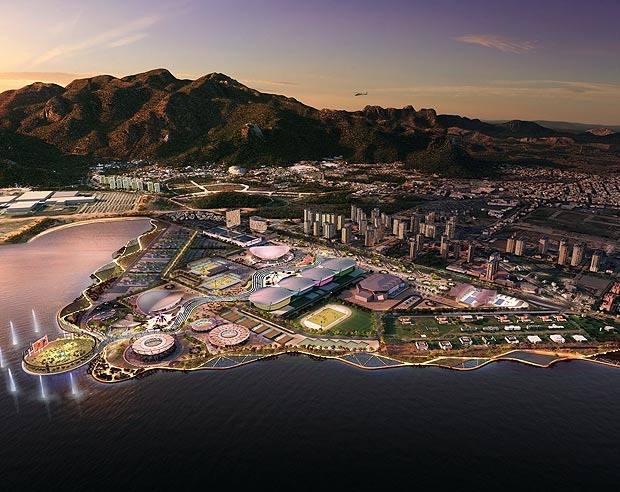 A spectacular first image of how Rio de Janeiro's Olympic park will look in 2016.