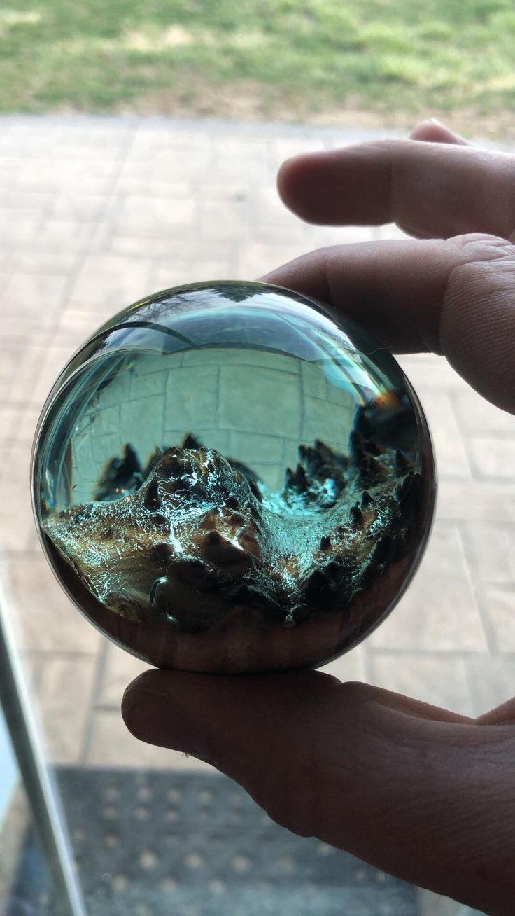 Resin hybrid sphere with touch of green https//ift.tt
