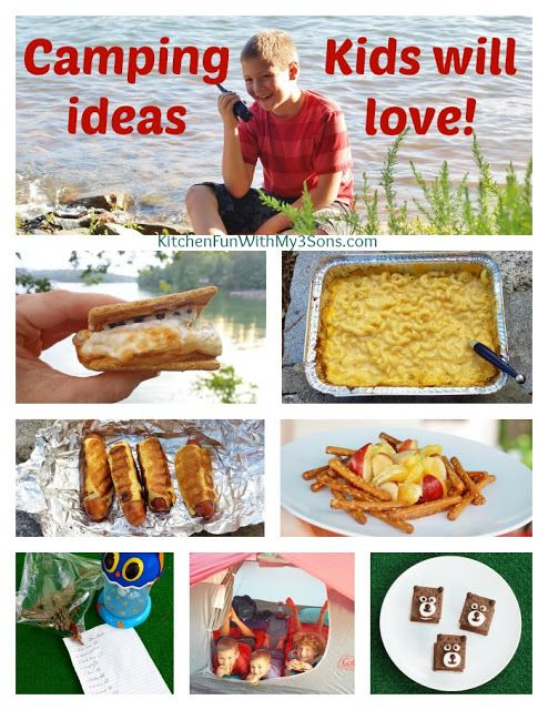 Kitchen Fun With My 3 Sons: Camping Recipes and Ideas that Kids will love!