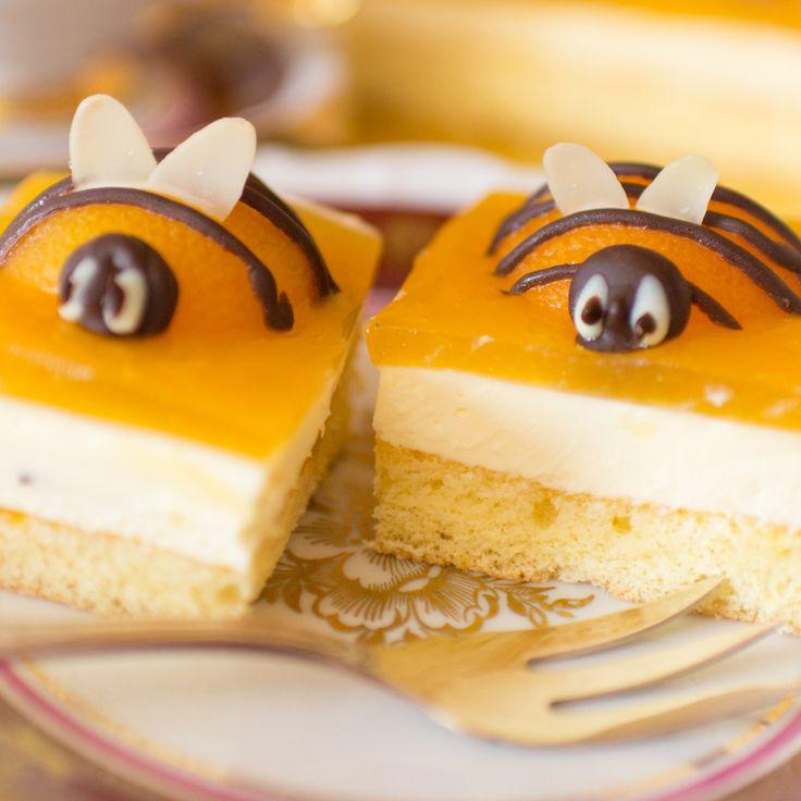 Rezept für super niedlichen Bienenkuchen aus Aprikosen. Er ist perfekt z.B. für einen Kindergeburtstag. Er schmeckt schön fruchtig uns ist sehr einfach herzustellen