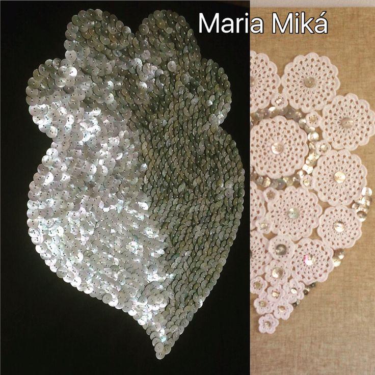 Quadro Coração de Viana com 1298 Botões em Madrepérola todos by Maria Miká