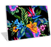 Jungle Vibe Laptop Skin by Vikki Salmela, #new #bright #aloha #Hawaiian #tropical #jungle #floral #flowers #art on #laptop #MacBook 13 as #fashion #tech #skins to liven up your #computer. Perfect for #home #office #school or #gift.