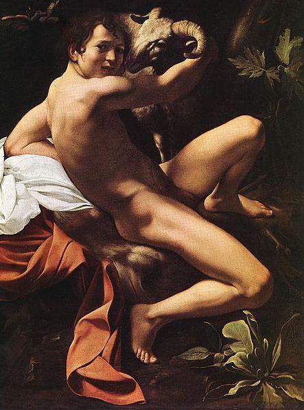 Le Jeune Saint Jean-Baptiste au Bélier - v. 1602 Le Caravage