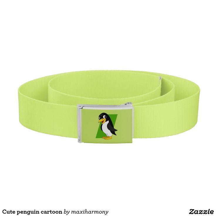 Cute penguin cartoon belt