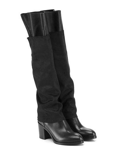 FRUIT - Stivali - Donna - Stivale in pelle vintage e nabuk elasticizzato con…