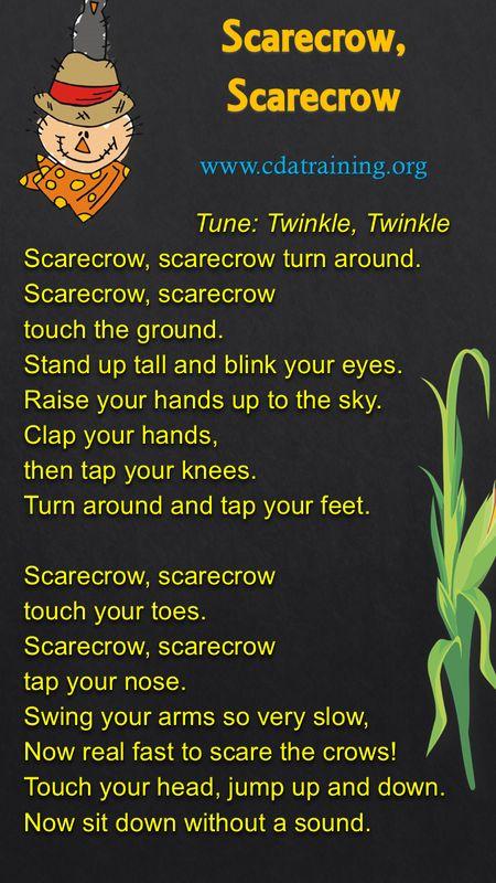 Scarecrow, Scarecrow Rhyme