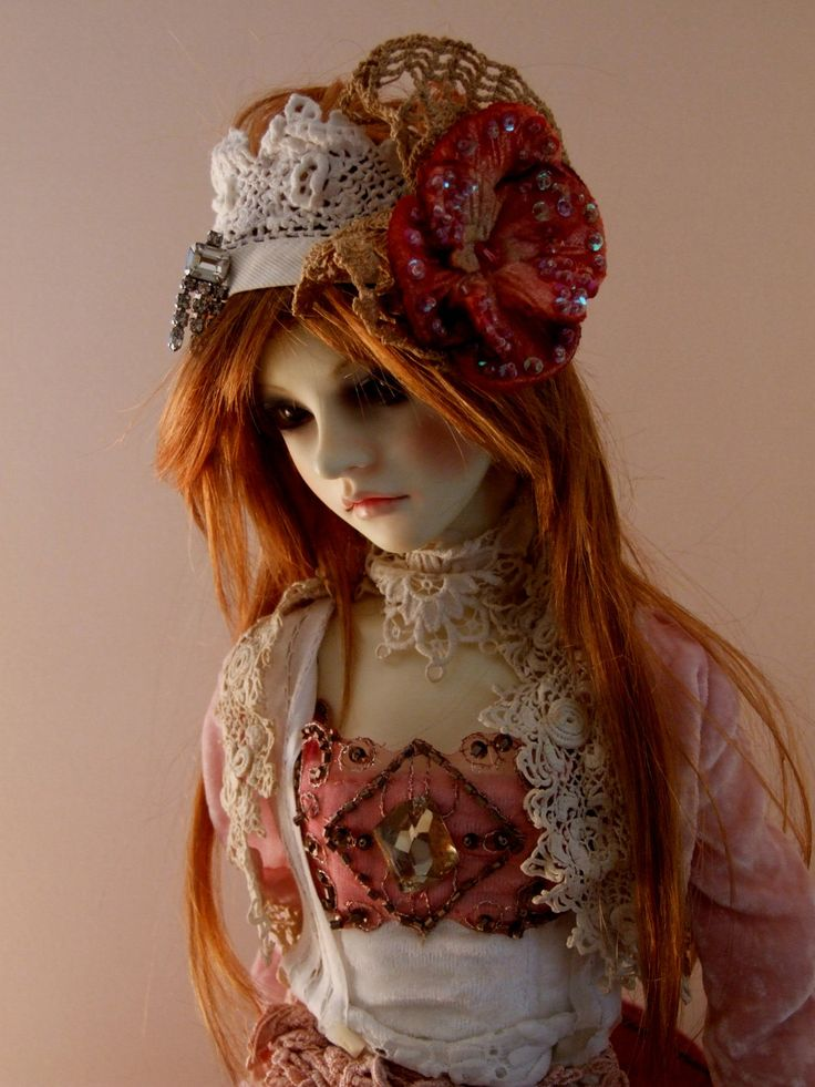 Japanese Ball Jointed Dolls | Asian Ball-Jointed Doll Super Dollfie Silk Velvet & Lace Outfit