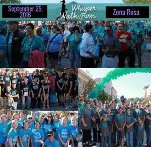 The symptoms of ovarian cancer whisper. Please listen. This walk and run is to raise awareness about the subtle symptoms of ovarian cancer in women. Join us to help fight this silent killer.