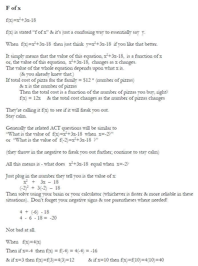 89 best act prep resources images on pinterest trigonometry f of x review sheet fandeluxe Gallery
