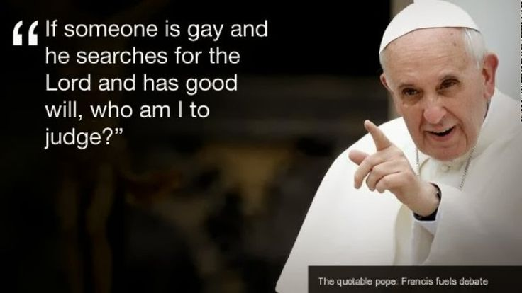 Despite the Catholic Church's continued stance against same-sex marriage, Pope Francis recently issued a statement saying that the Church should accept LGBTQ people more openly.