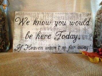 Rustic/country Wedding Memorial Table Sign