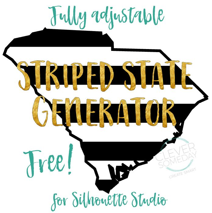 Free striped state generator for Silhouette Studio                                                                                                                                                                                 More