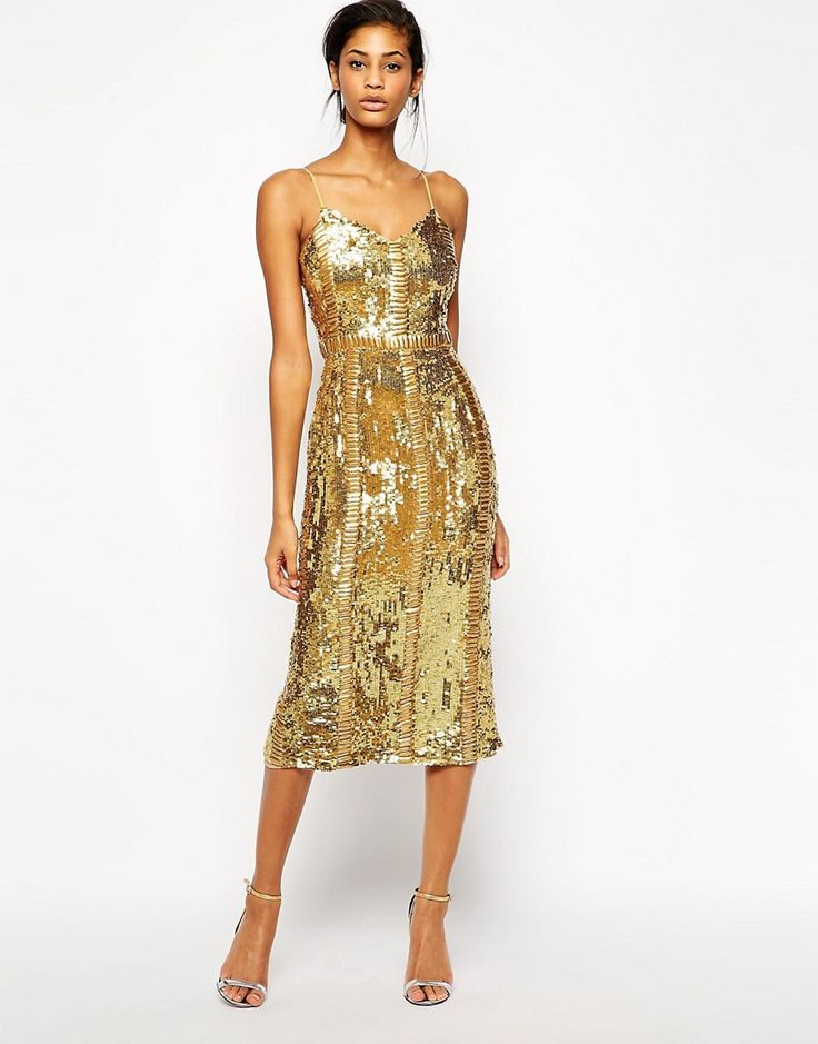 Image 1 of Virgos Lounge Honor Allover Sequin Midi Dress