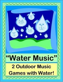 "MAKE MUSIC with WATER! Create a funny POEM with water sounds. Then compose a ""Water Symphony"" with HIGH-LOW SOUNDS! Cups, Glasses, Marbles, and Chopsticks are all you need. Learn a Friendship Story about why Handel wrote his famous ""Water Music"". Make a CRAFT and listen to this energetic music while you play! (8 pages) From Joyful Noises Express TpT! $"