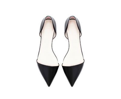 Image 2 of POINTED FLAT SHOE from Zara