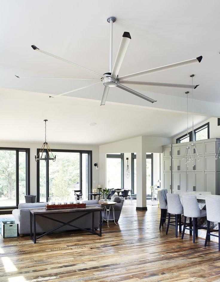 Essence Ceiling Fan Installed In The Salhab Residence Living Room. #essence  #bigassfans #ceilingfan | Big Ass Fans At Home | Pinterest | Ceiling Fan,  ...