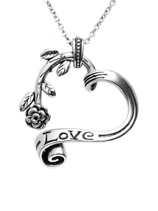 """""""Garden Heart"""" Necklace by Controse (Silver Tone) #InkedShop #necklace #love #heart #jewelry #style"""