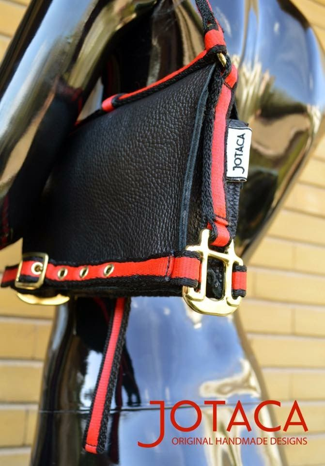 The Equestrian Bag 2014 Made by JOTACA Red/black foal bridle and leather