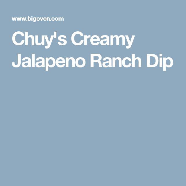 Chuy's Creamy Jalapeno Ranch Dip