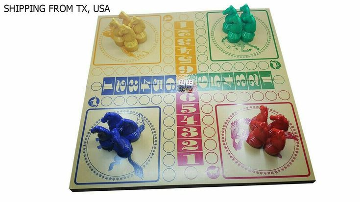 Details about Set seahorse board game dice Parcheesi game