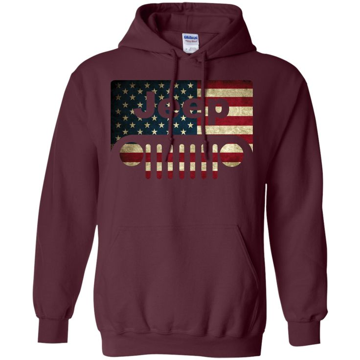 jeep lover american flag with jeep grille pullover hoodie 8 oz