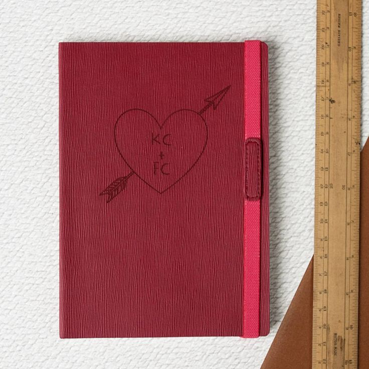 Personalised Love Heart Engraved Journal | Not On The High Street