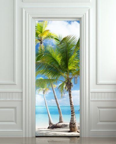 "Door STICKER Palms, Beach, Resort, Ocean, Sea mural decole film self-adhesive poster 30x79""(77x200 cm) Pulaton,http://www.amazon.com/dp/B00HWHH6XS/ref=cm_sw_r_pi_dp_XLg2sb0NW2932PZ0"