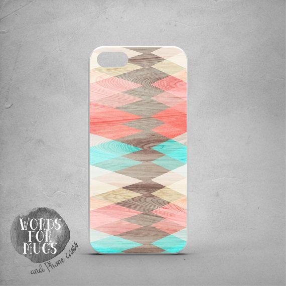 iPhone 6 case geometric coral blue creamy geometric by DeWadaSTORE