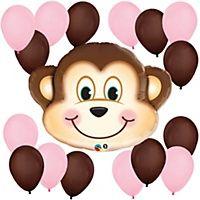 Monkey Girl Baby Shower Decorations & Theme - BabyShowerStuff.com