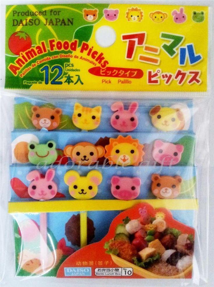 Japan Animal 12pcs Bento Lunch Box Food Picks Stick Kawaii accessories
