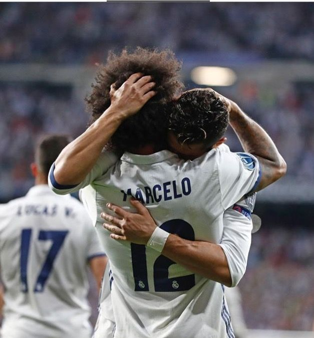 Marcelo and cristiano Ronaldo Real Madrid champions league 2017 against Bayern Munich