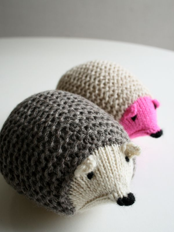 Whits Knits: Knit Hedgehogs Find the free pattern here ...