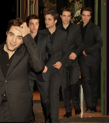 """Rob Pattinson does his version of """"Nude Descending a Staircase."""""""