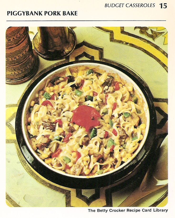 4 ounces uncooked fine noodles 2 tablespoons shortening 2 cups cut-up cooked pork 1 can (10 1/2 ounces) condensed cream of chicken soup 1 can (8 ounces) whole kernel corn 1 can (2 ounces) sliced pi...