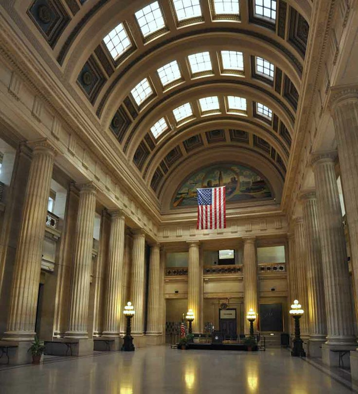 In The Rotunda Of Cleveland Ohio City Hall