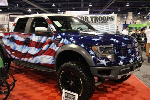 Cool Ford 2017: Custom 2014 Ford F-150 Raptor Raises $250,000 for Troops - Ford Trucks... ford trucks Check more at http://carsboard.pro/2017/2017/03/23/ford-2017-custom-2014-ford-f-150-raptor-raises-250000-for-troops-ford-trucks-ford-trucks/