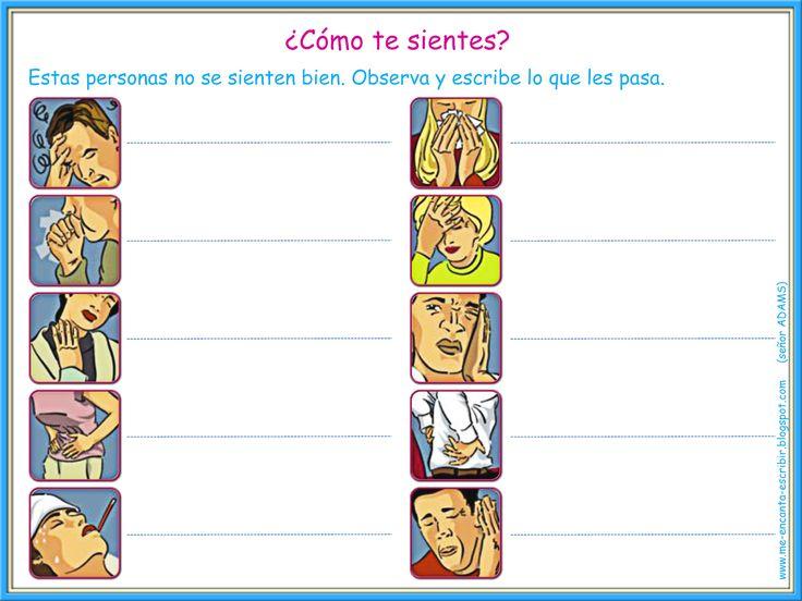 Me encanta escribir en español: ¿Cómo te sientes? (ejercicio interactivo)