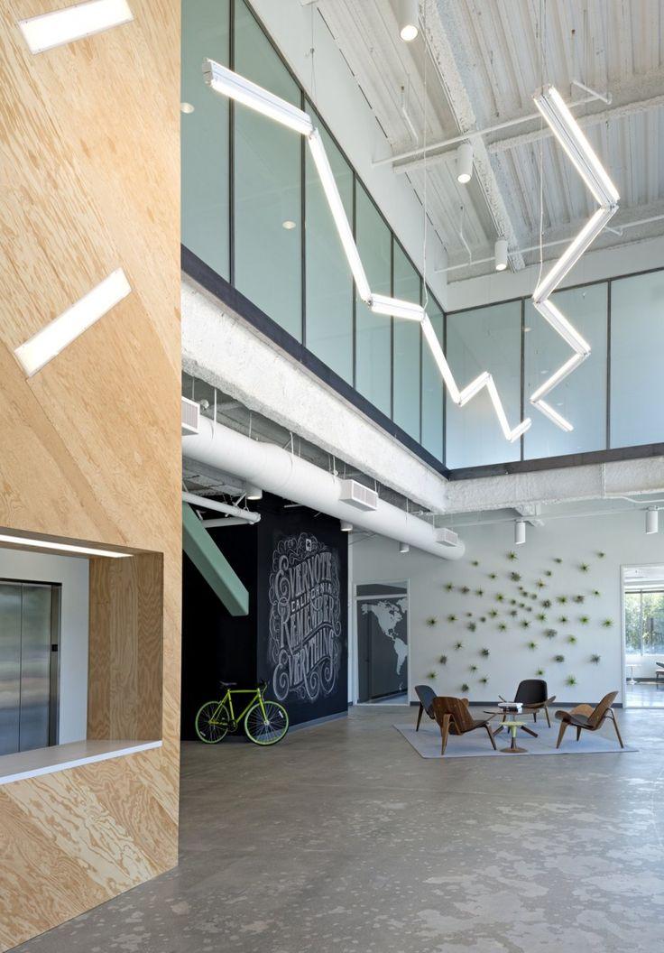 evernote office interiors open concept reception space studio oa