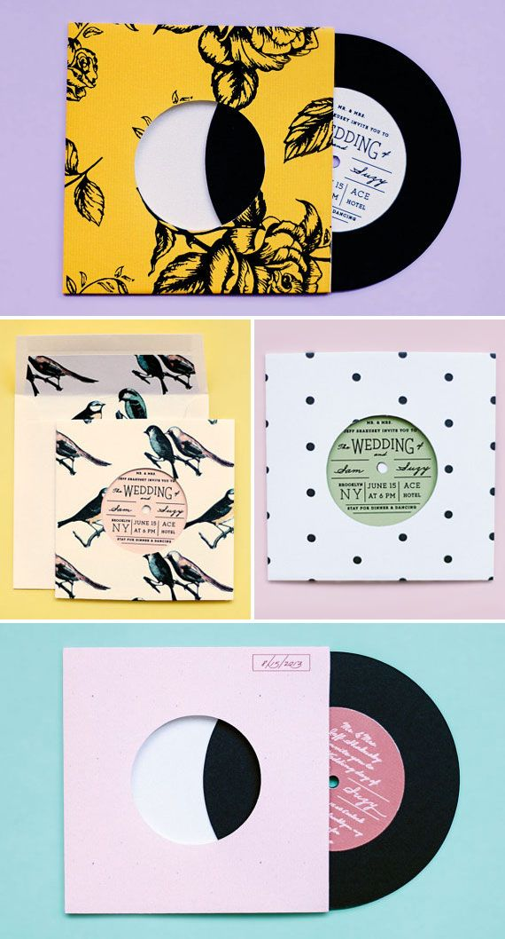 Vinyl Record Album Style Wedding Invitations | Ello There