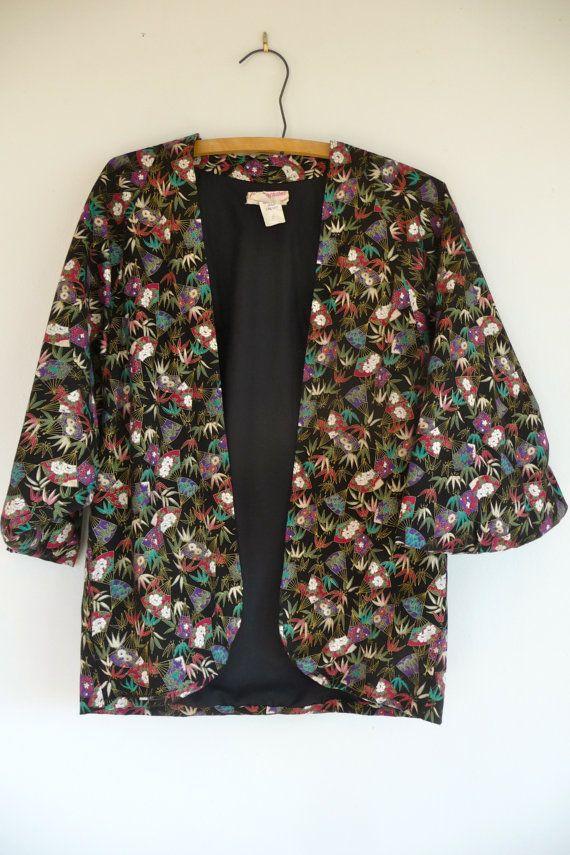 Hawaiian cocoon jacket s by WildCreatures on Etsy, $52.00