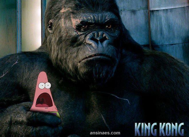 king kong atrapo a patricio funny pinterest