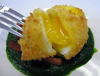 Crisp Egg with Watercress... salivating.
