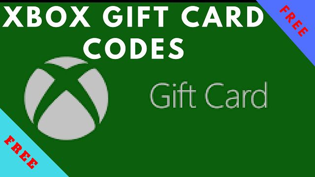 xbox one store gift card codes