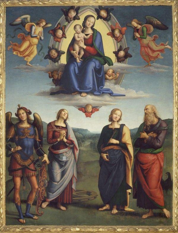 Perugino - Madonna col Bambino in gloria e Santi