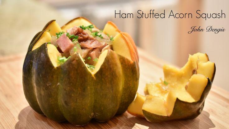 Ham stuffed Acorn Squash | John Dengis
