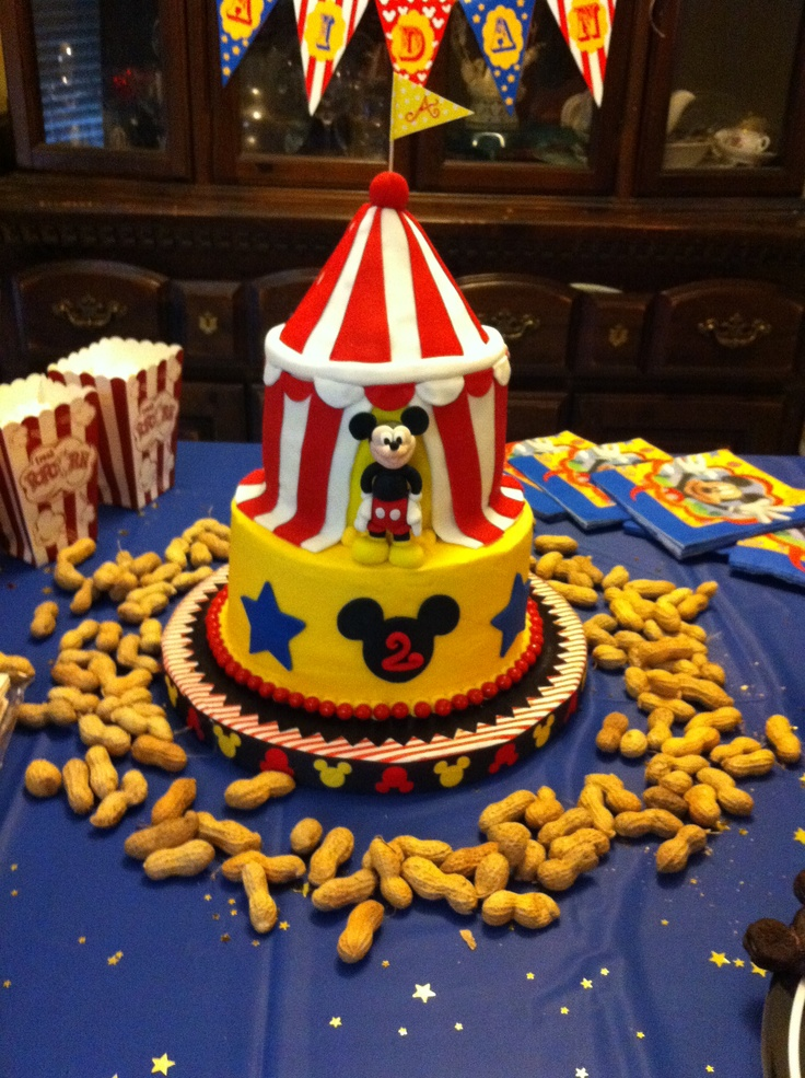 Best Aidans Second Birthday Mickeys Circus Theme Images On - Circus birthday party ideas pinterest