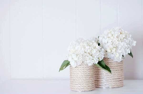 DIY váza z lýka