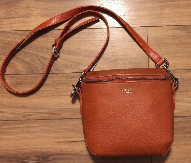 Matt & Nat Crossbody Bag Purse Handbag Burnt Orange Vegan Leather